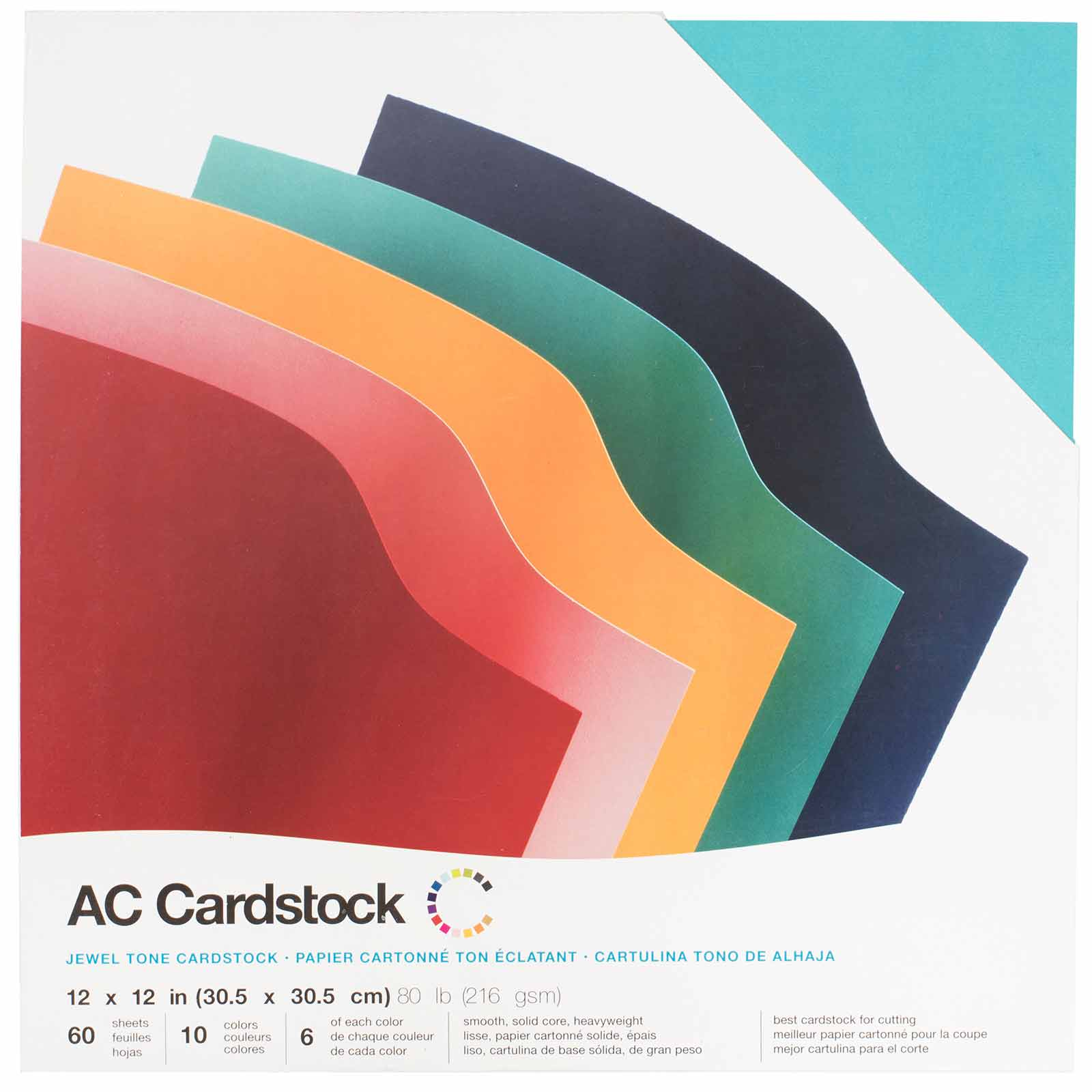 Black American Crafts 12-Inch by 12-Inch Cardstock Variety Pack