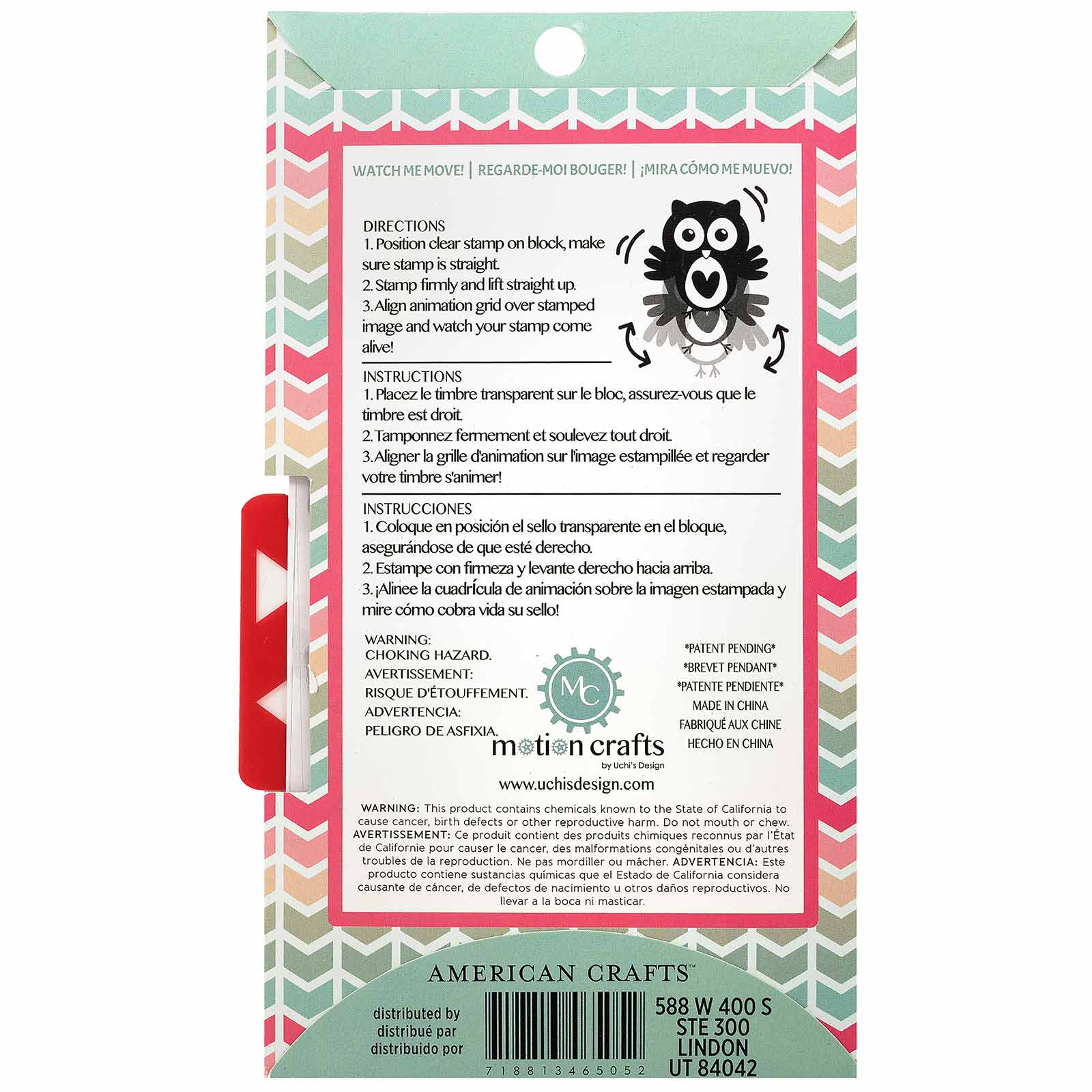 Black American Crafts 346505 Uchi Designs Animation Motion Crafts Butterflies 13 Piece Stamps