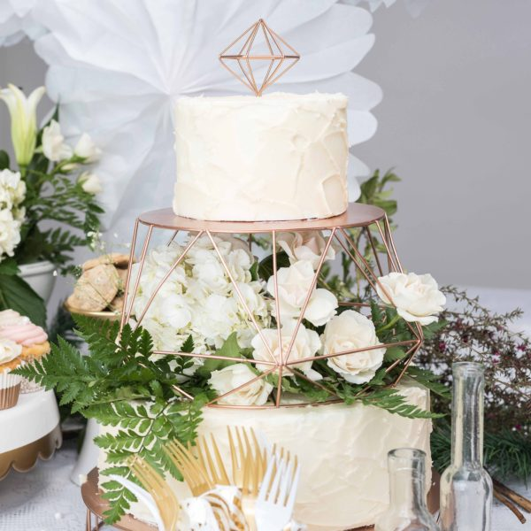 Rose Gold Tiered Cake Stand American Crafts