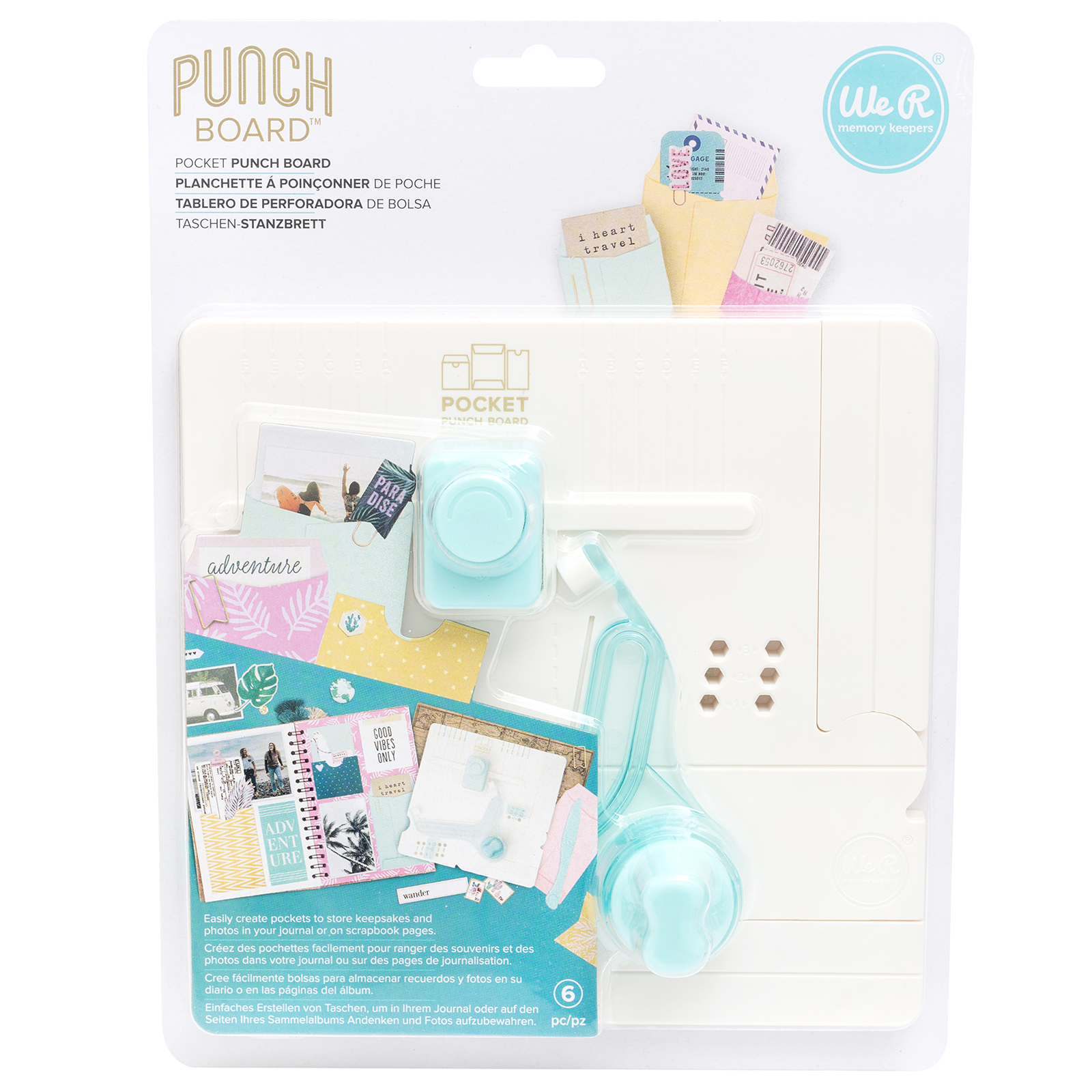 We R Memory Keepers Tool planner Punch Board 6 Piece