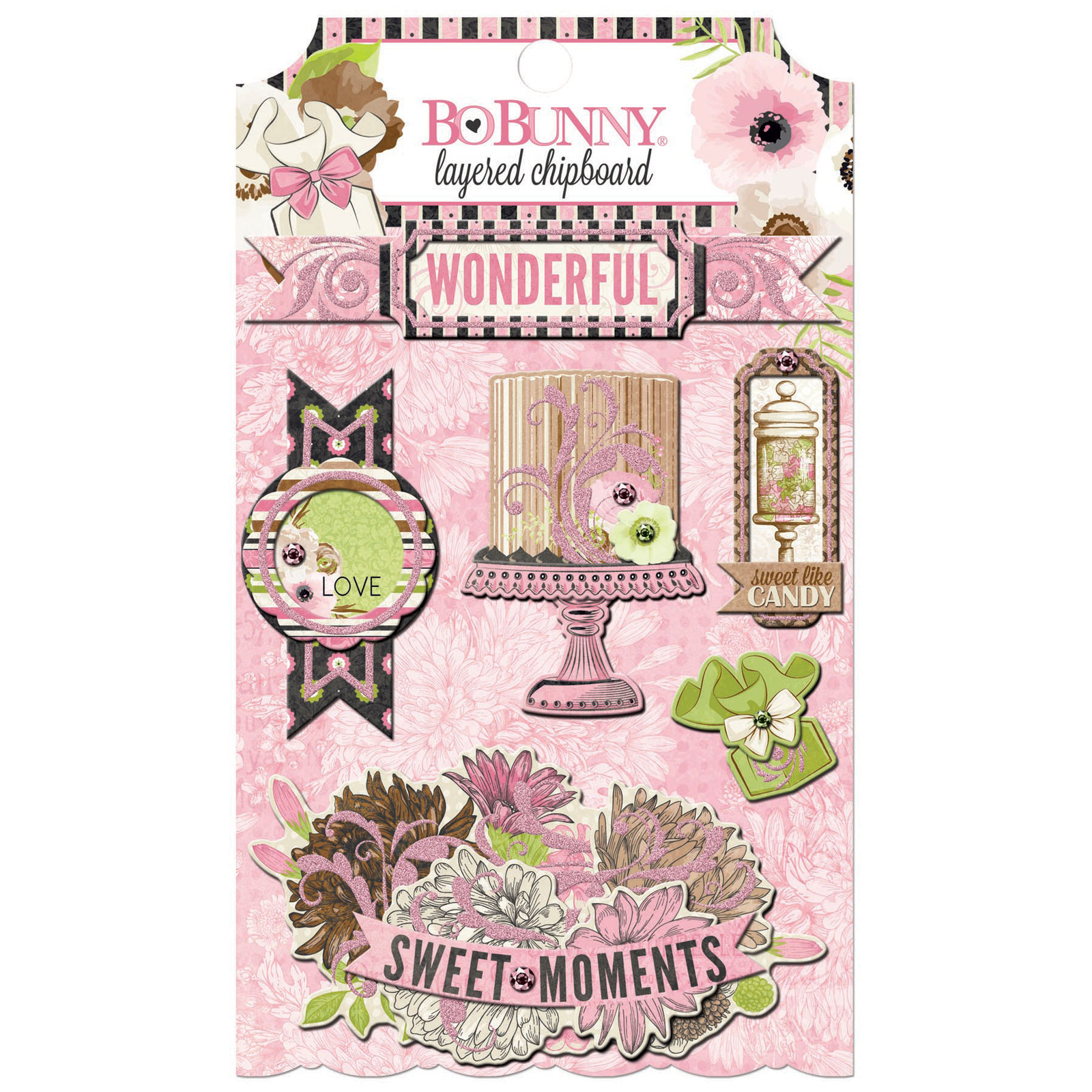 STICKER SHEET - LAYERED CHIPBOARD - SWEET MOMENTS