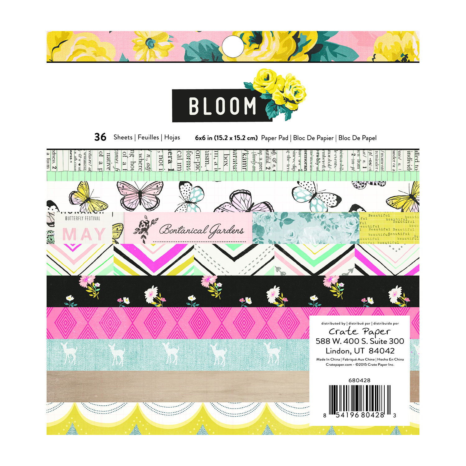 6 X 6 Paper Pad Bloom American Crafts