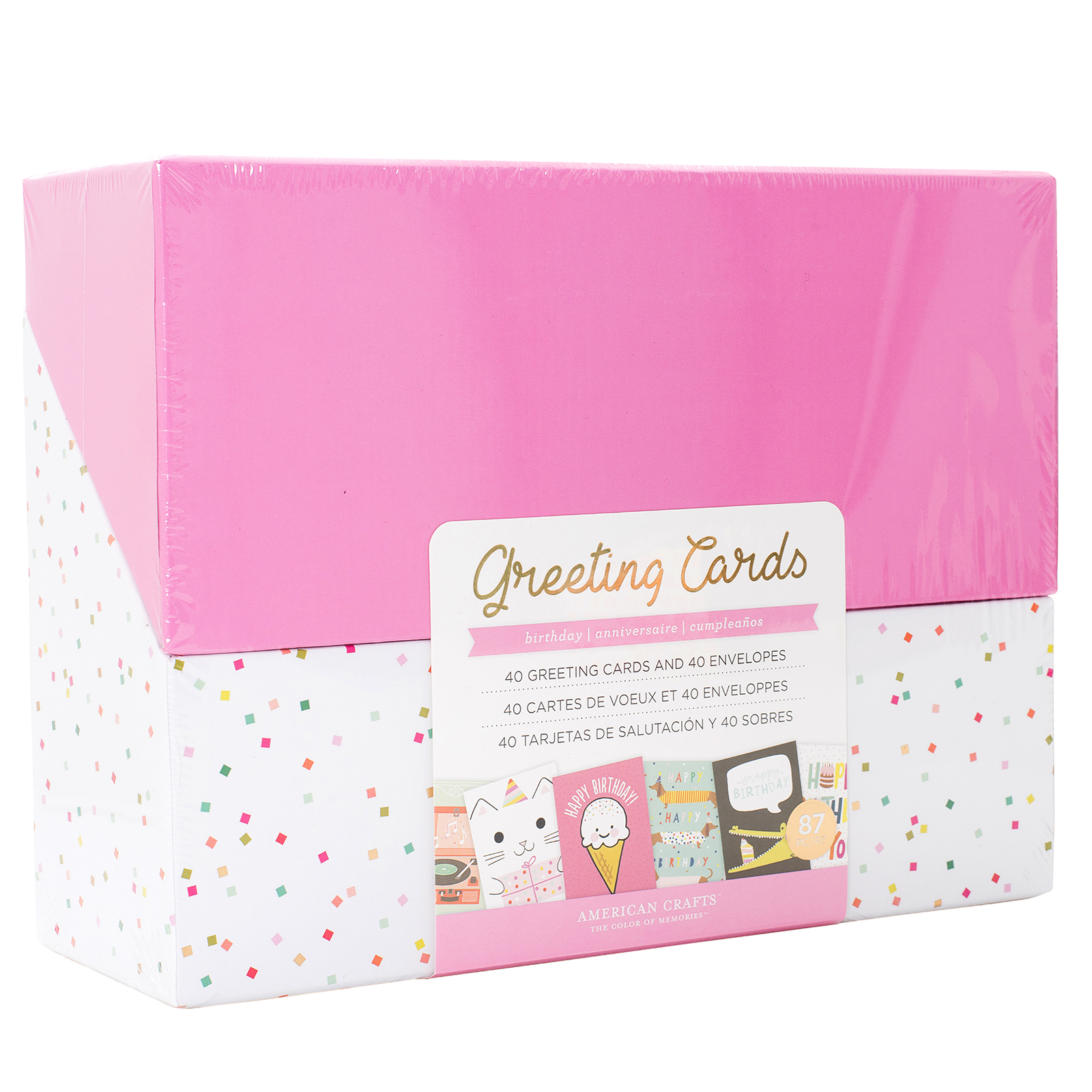 BOX OF CARD AND ENVELOPE BIRTHDAY