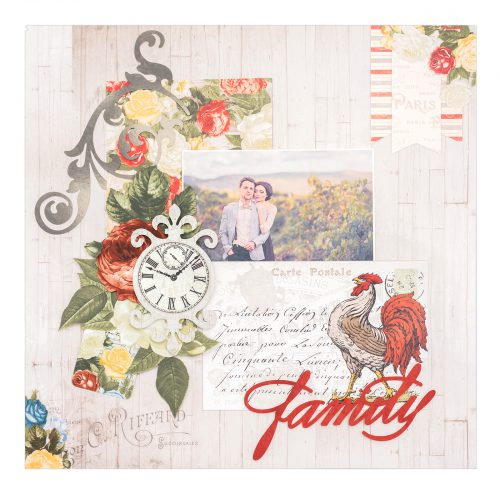 BoBunny Boulevard Scrapbook Layout