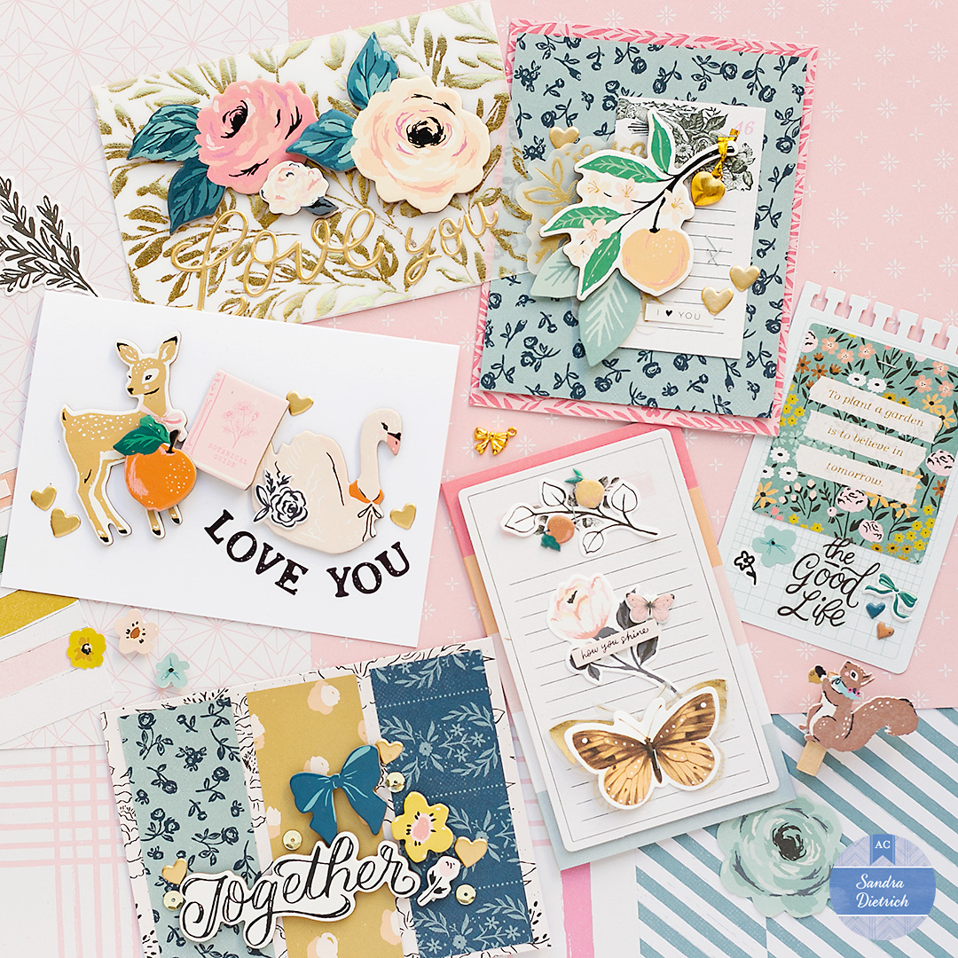 Love is in the air cards with Sandra Dietrich and the Marigold Collection by Crate Paper.