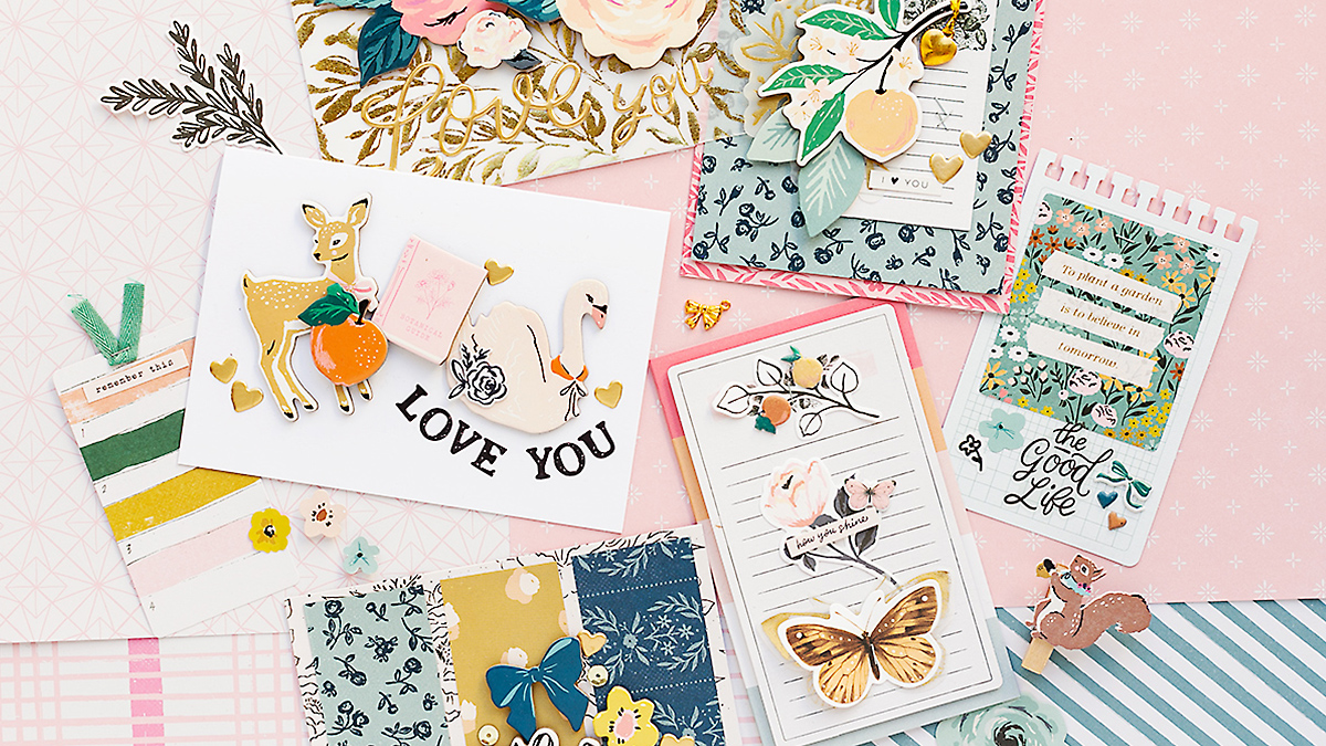 Lovely Valentine's Day Cards with the Marigold Collection by Crate Paper